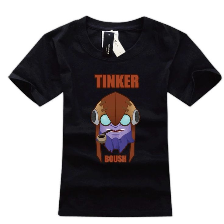 Defense of the Ancients 2 Tinker high quality t shirts black  short sleeve tee shirts #Affiliate