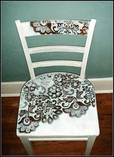 How To Paint A Chair Through Lace
