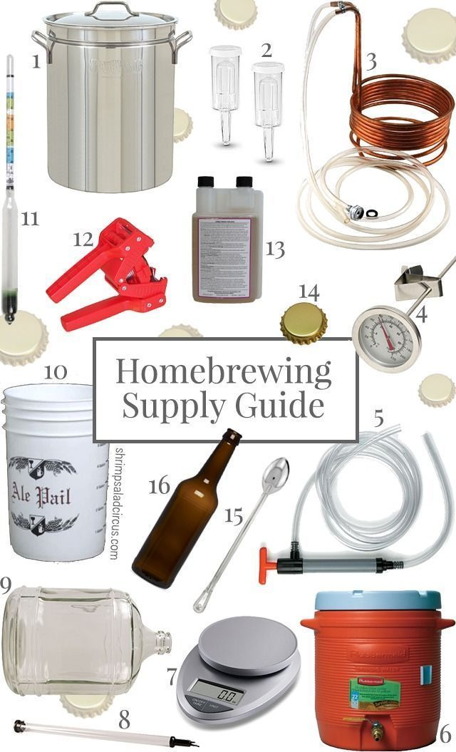 Homebrewing Crash Course - All the supplies you need to brew your own beer and where to get them!