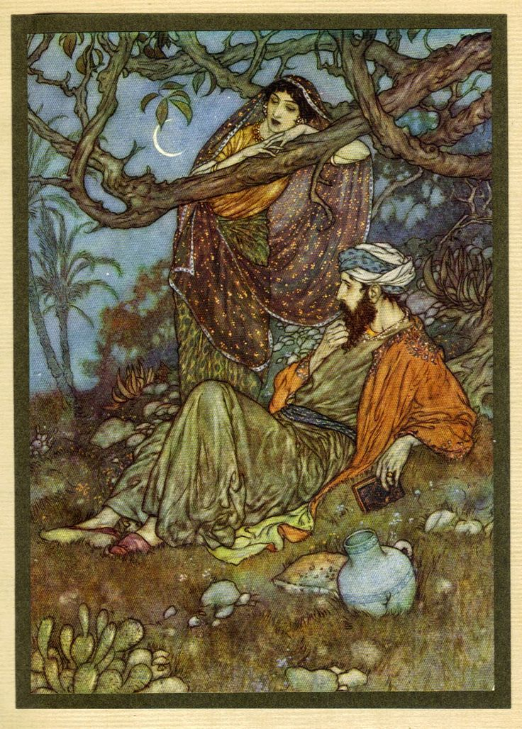 "omar khayyam rubaiyat | Edmund Dulac illustrations for ""Rubaiyat of Omar Khayyam"" (part 1)"