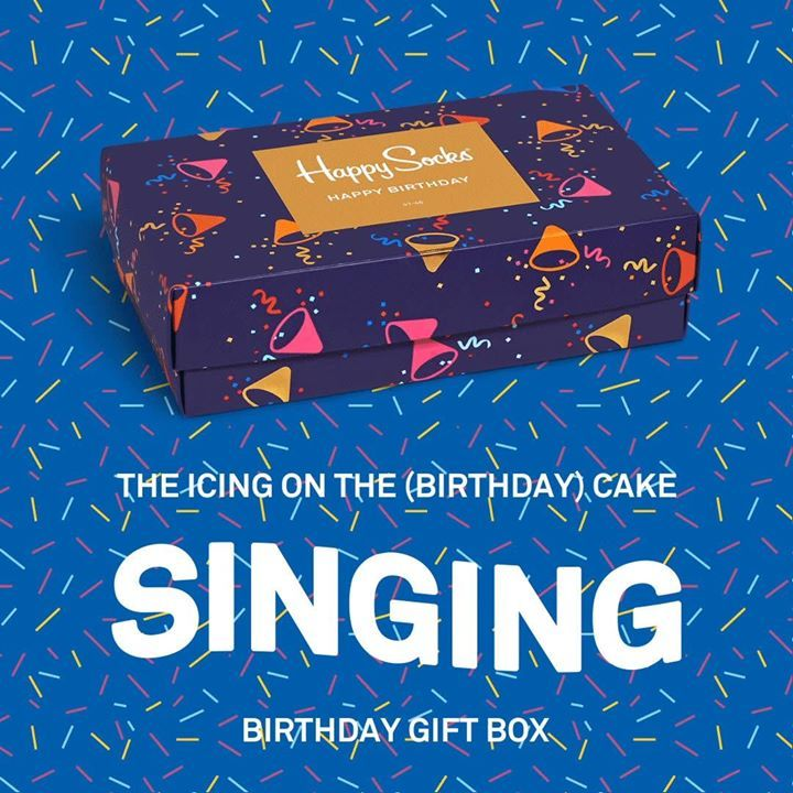 Move your feet to a birthday beat with our Singing Happy Birthday Box! 🎶  Shop now 👉 HappySocks.com #whatdoyouthink