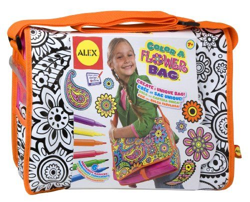 ALEX® Toys - Color a Bag!  & Accessories Color A Flower Bag 509F