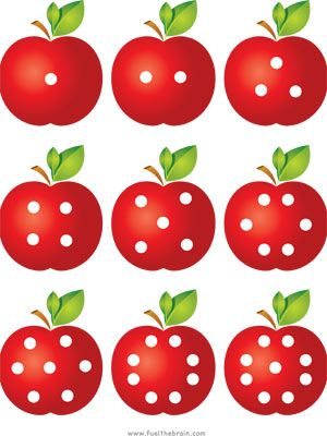 Apple Pairs - Dot Patterns | Fuel the Brain Printables