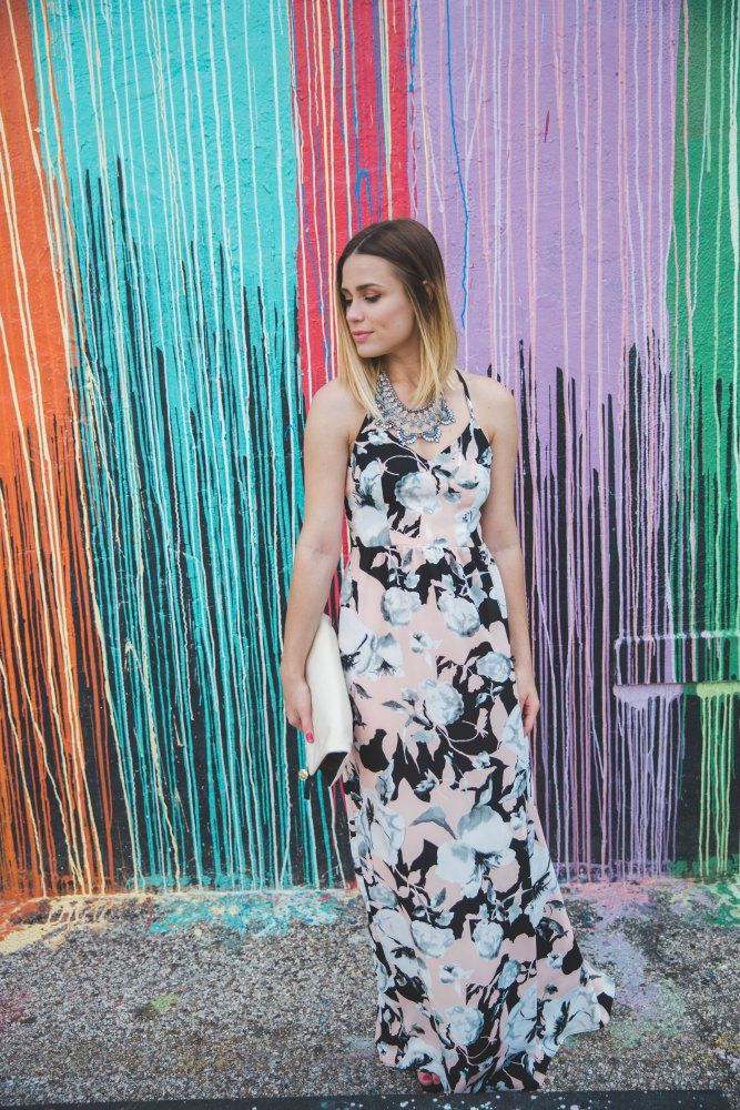 What to wear a floral maxi Dress with + the maxi dress perfect for Date night, wedding season or a casual weekend. | Uptown with Elly Brown