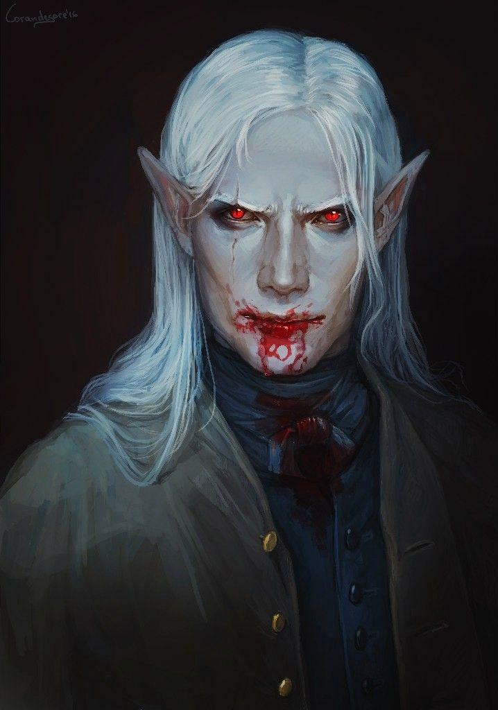 character, portrait, fantasy, мужчина, длинные волосы, original, blood