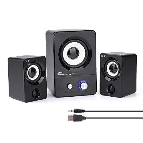 Multimedia Speaker System Bass Subwoofer Speakers 2.1 Computer Desktop PC Laptop #HTRise