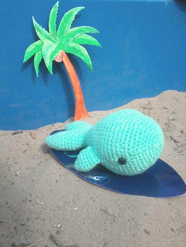 Кит вязаный крючком #toys #игрушкакрючком #мягкаяигрушка #пляж #серрфинг