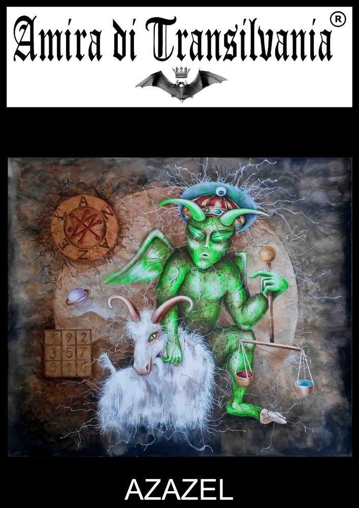 Azazel angel old painting enochian demon Grimorio seal offered by amira.di.transilvania on eBay