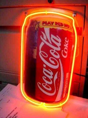 COCA COLA COKE CAN NEON LIGHT SIGN