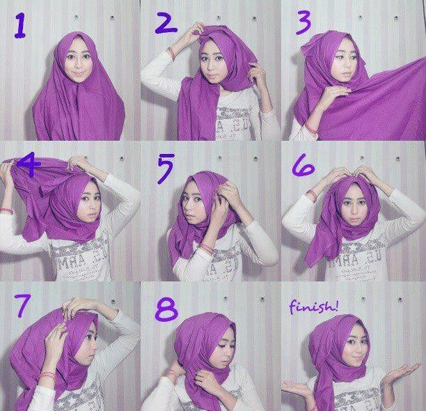 Easy Hijab Tutorial with Folds