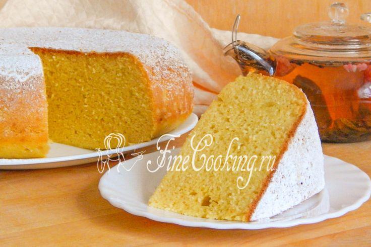 Кукурузный пирог в мультиварке - рецепт с фото