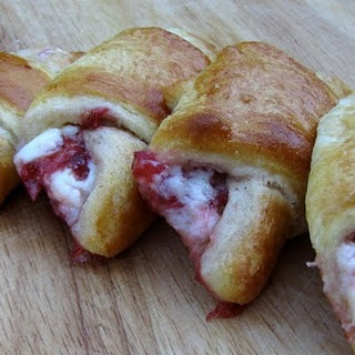 Strawberry Cream Cheese Croissants  *I used storebought croissants and used this filing -fabulous!