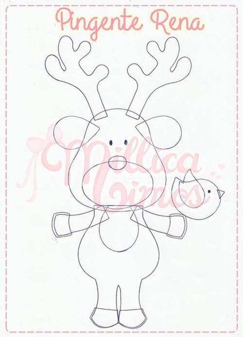 Moldes para hacer colgantes navideños con fieltro04