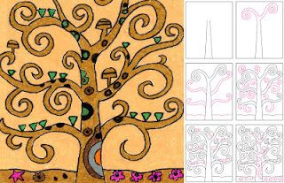 Art Projects for Kids: Draw Klimt's Tree of Life