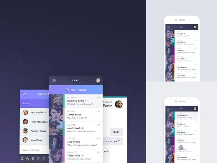 Feely Chat App case study by Jakub Antalík