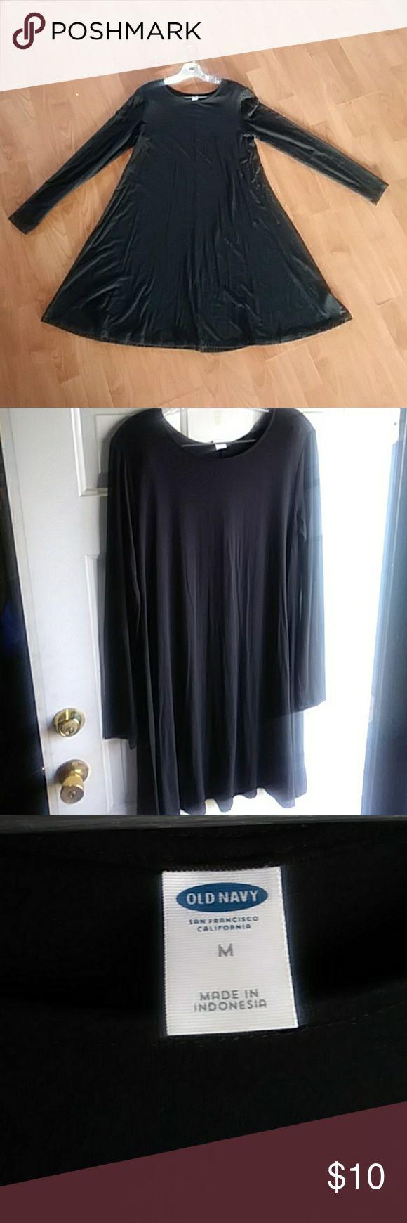 Old Navy long sleeve Jersey Dress Black Jersey long sleeve dress by Old Navy Long sleeve t-shirt dress Old Navy Dresses Long Sleeve