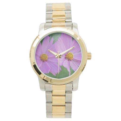 Cosmos flowers wrist watch