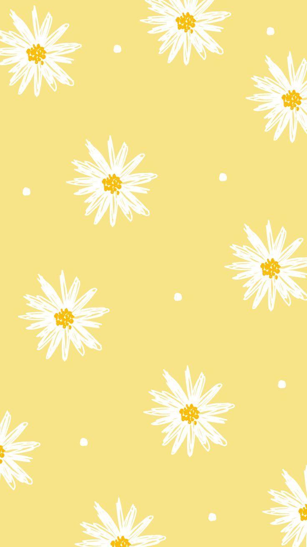 Yellow Wallpaper Yellow In 2020 Iphone Wallpaper Yellow Flower Iphone Wallpaper Cute Patterns Wallpaper