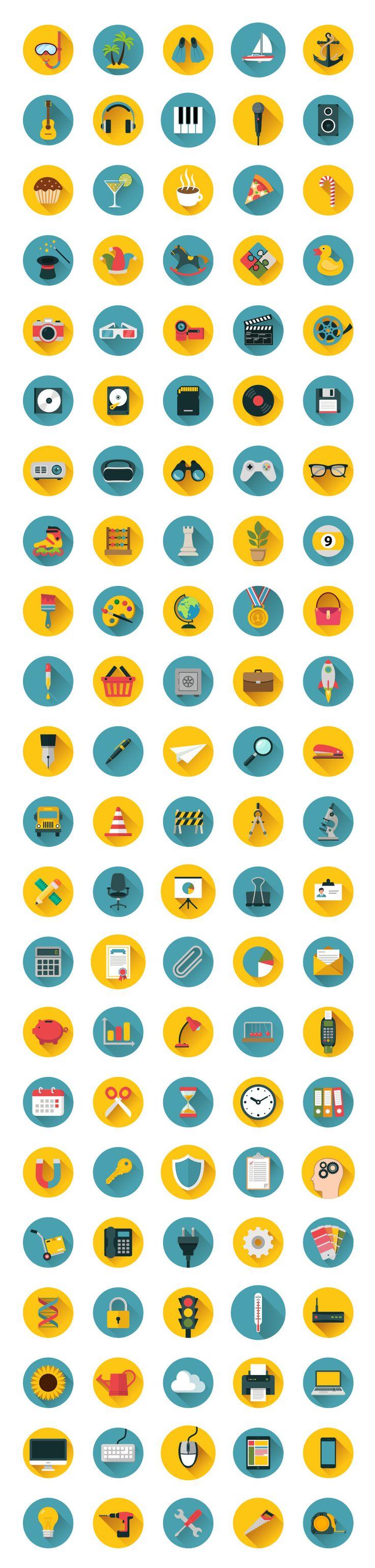 110 Flat Icons Bundle