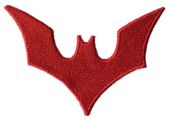 Red Batman Logo patch Batman Beyond or Kate Kane by 8BitSpock