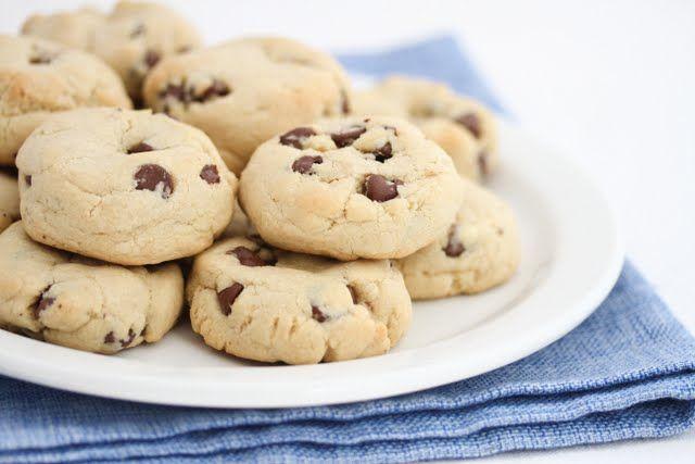 Super soft chocolate chip cookies. The secret ingredient? Cornstarch!