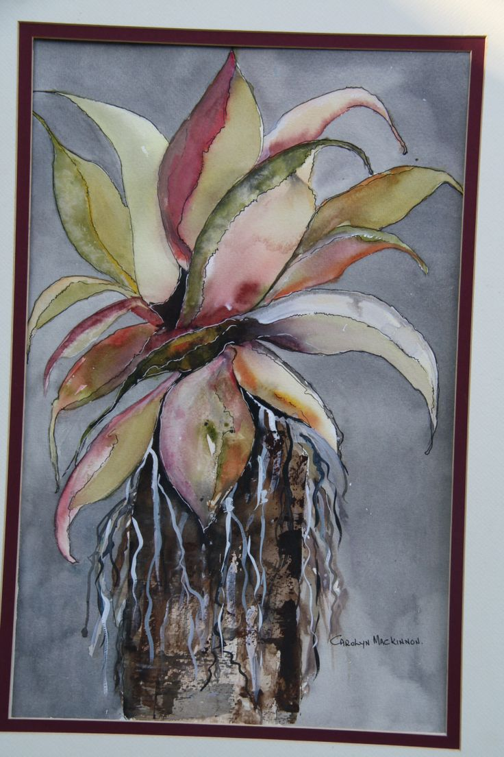 """Water colour and ink. """"desert Song"""" by Carolyn Mackinnon. South African artist"""