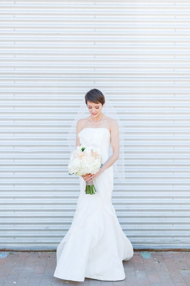 Bride with a Pixie Crop Haircut   Sweet Intimate Wedding   Blueberry Photography   Bridal Musings Wedding Blog
