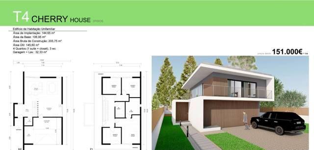T4 CHERRY HOUSE VERSÃO 1  - Deixe a realidade sobrepor-se à imaginação... T4 CHERRY HOUSE para si e para a sua família, desde €151 000 euros (+iva). Contacte 968 542 583