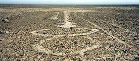 Geoglifo de figuras geométricas en Pampa Alto Chacarilla. atacameños