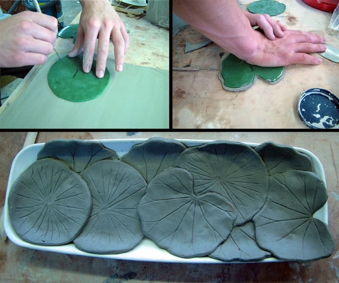 The Ceramic Shop Blog: Playing With Clay (and Leaves) Use the large cabbage leaf to make lg salad bowl, then make smaller for a set.