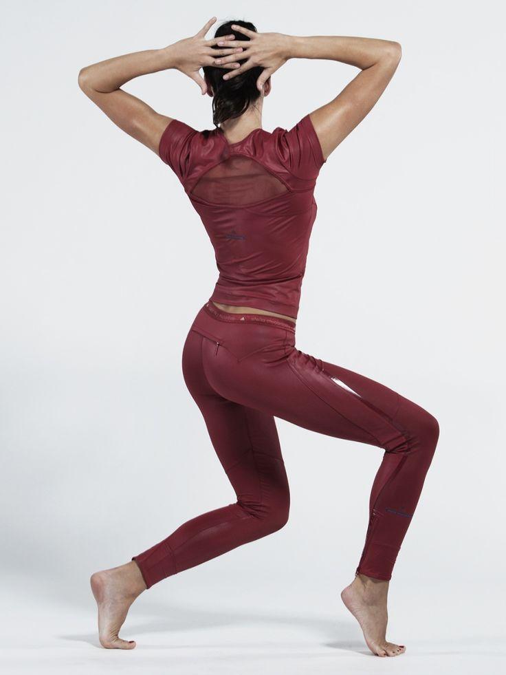 Stella McCartney Adidas Run Performance Tights in Red