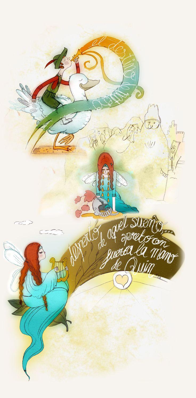 """Ilustración cuento """"El destino de Patoso"""" de Juan Pizarro Nogués"""