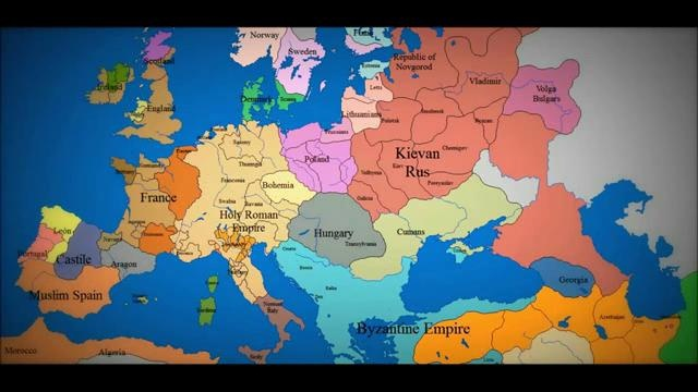 Epic Timelapse Map Of Europe