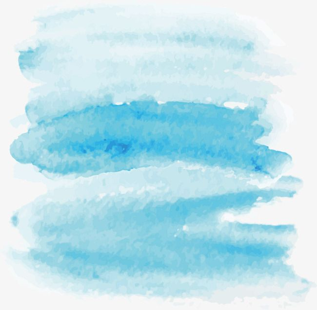 Cartoon Blue Water Color Cartoon Clipart Water Clipart Color