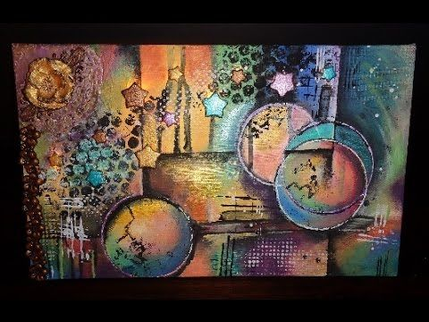 Mixed Media mit Licht Speedpainting (original ist von Michael Lang) - YouTube