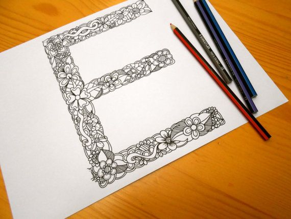 Colouring Pages Alphabet Printable : Best alphabet series images coloring pages