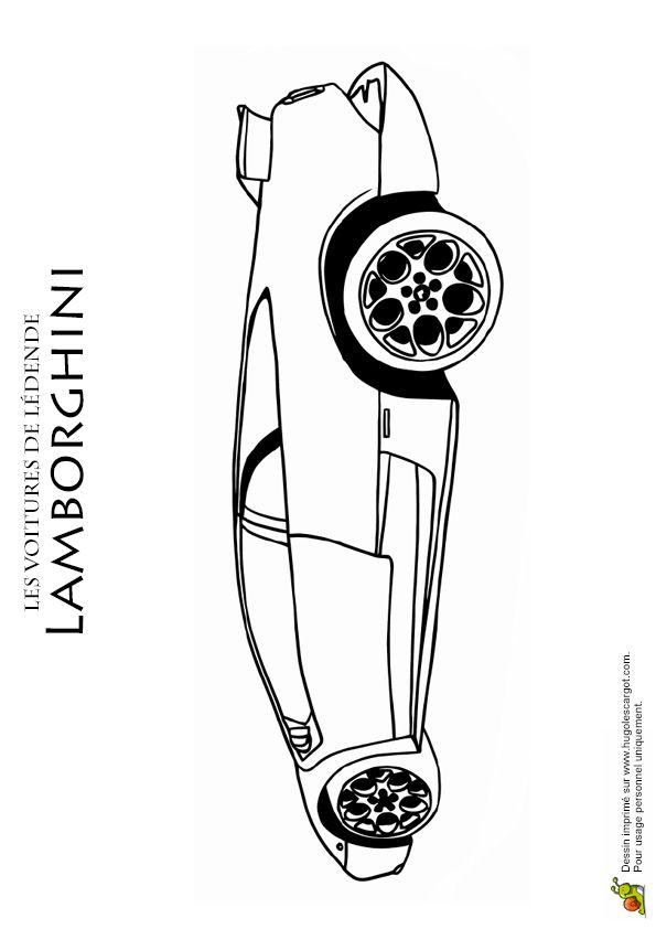 Une Lamborghini avec de belles jantes à colorier.