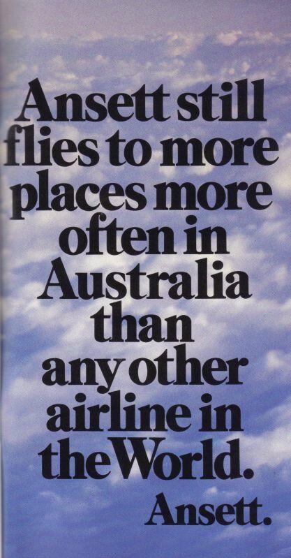 Ansett Australia 1989 advert