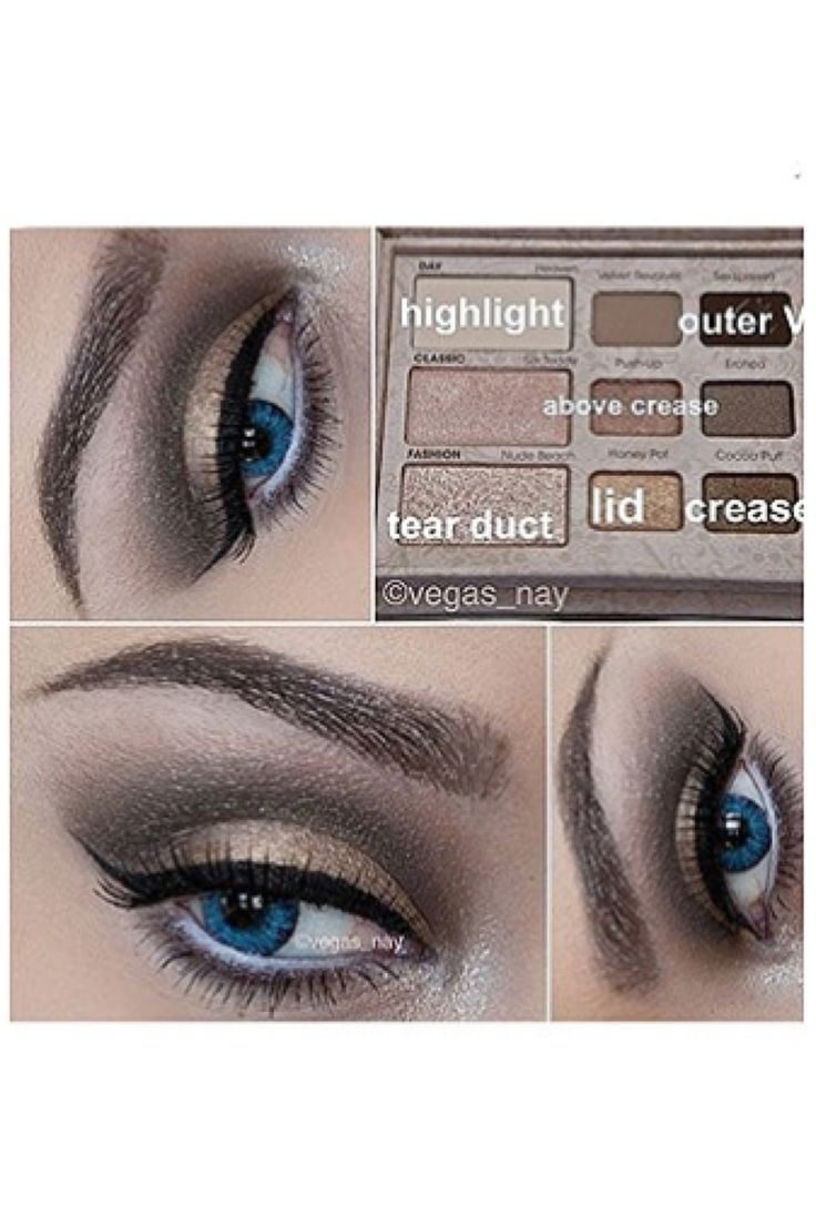 Neutral eye look using Too Faced Natural Eye Palette
