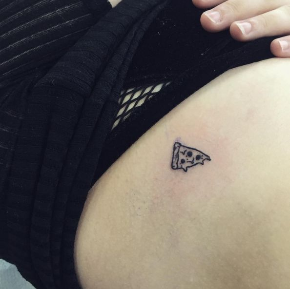 What's a tiny pizza without some tiny pepperoni? #refinery29 http://www.refinery29.com/food-tattoos#slide-12