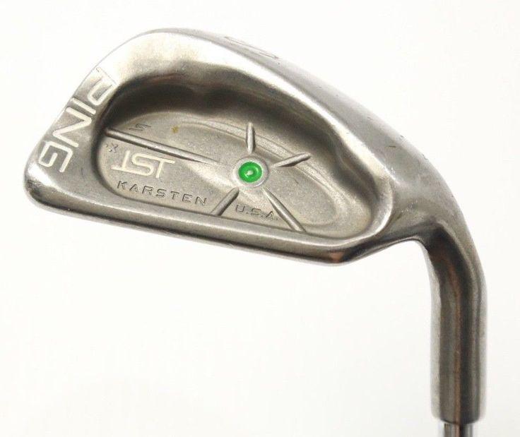 PING KARSTEN II Green Dot Sand Wedge Steel Shaft 115559 Great Used Golf Club  #Ping