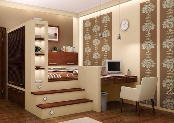 Кровать-подиум - идеи и воплощение своими руками