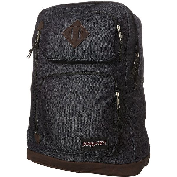 Mens Jansport Houston Backpack Blue Cotton ($49) ❤ liked on Polyvore featuring men's fashion, men's bags, men's backpacks, backpacks, bags, blue, men, mens laptop backpack and mens backpacks