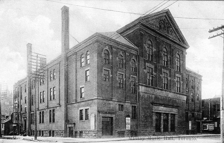 Massey Hall, Toronto, Ontario ca. 1907