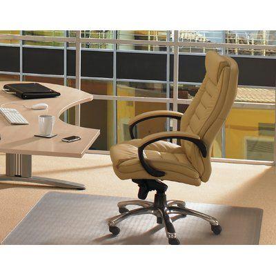 "FLOORTEX Anti-Microbial Advantagemat Standard Pile Straight Edge Chair Mat Size: 53"" W x 45"" D"