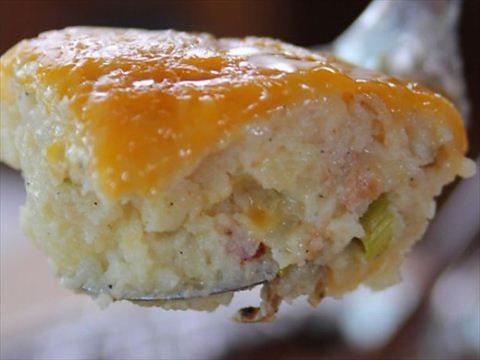 Bacon, cheese and green onions make Ree's Baked Potato Casserole a big hit.