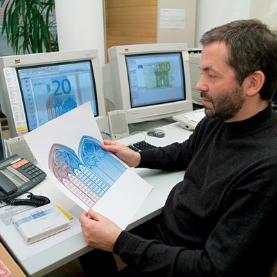 Robert Kalina. The euro and the Azerbaijani manat were both designed by the same man.