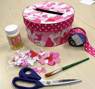 Valentine mailbox idea from Jo- Ann's Fabric