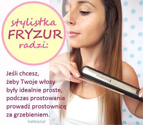fryzjerski trik #włosy #fryzury #hair #tricks #hairtips #proste włosy #fryzury #blog