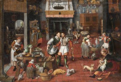 Köksinteriör, ca 1565.